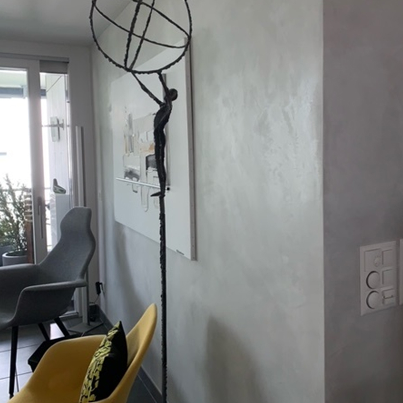 Wohnwand geflammt 2 b